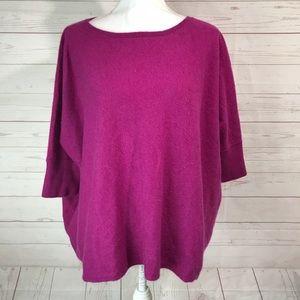 Garnet hill   100% cashmere Dolman Sleeve Pink
